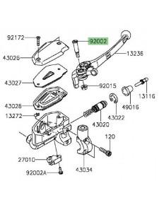Vis axe de levier de frein Kawasaki 920021322 | Moto Shop 35