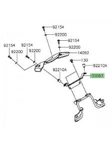 Support saute-vent Kawasaki Z800 (2013-2016)  Réf. 350630867