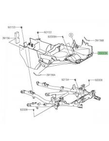 Passage de roue arrière Kawasaki Versys 1000 (2019-2020) | Réf. 350230462