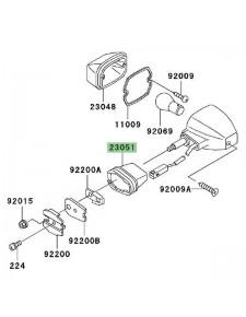 Caoutchouc clignotants avant Kawasaki ZRX1200S (2001-2003) | Réf. 230511207