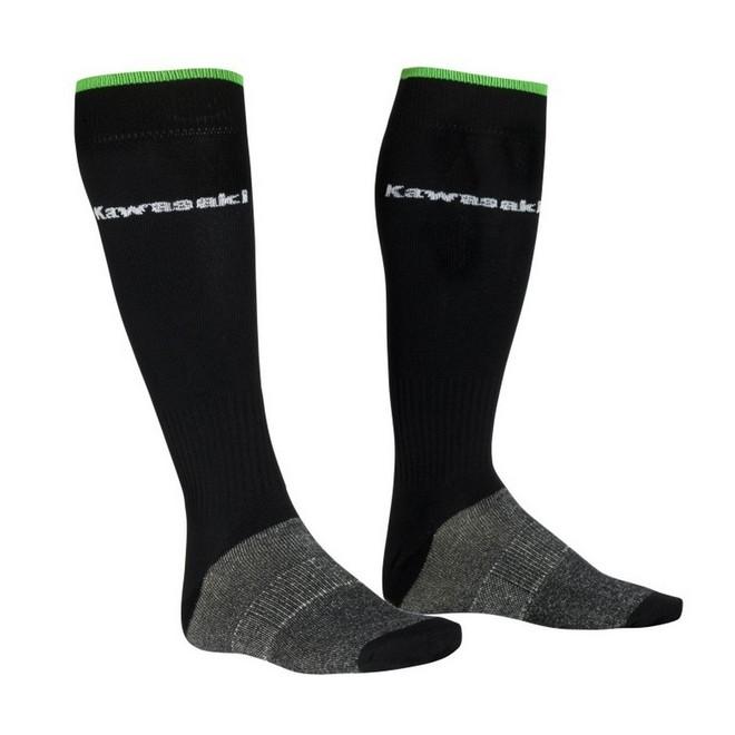 Chaussettes hautes noires Kawasaki | Moto Shop 35