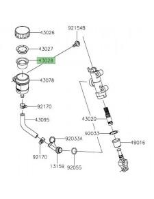 Membrane bocal maître cylindre arrière Kawasaki Z900 (2017-2020)   Réf. 430281065