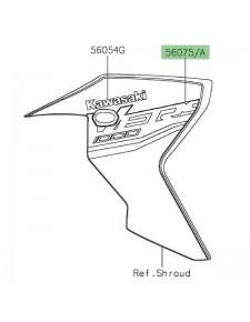 Autocollant décoratif écope de radiateur peinte Kawasaki Versys 1000 SE (2019-2020) |Moto Shop 35