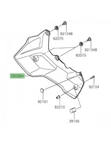 Sabot moteur droit Kawasaki Versys 1000 (2019-2021) | Réf. 550280689