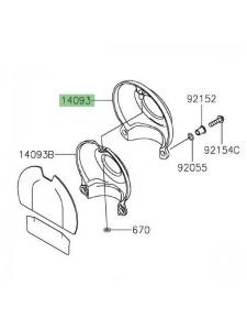 Cache carter de distribution conique chromé Kawasaki W800 (2020-2021) | Réf. 140931005