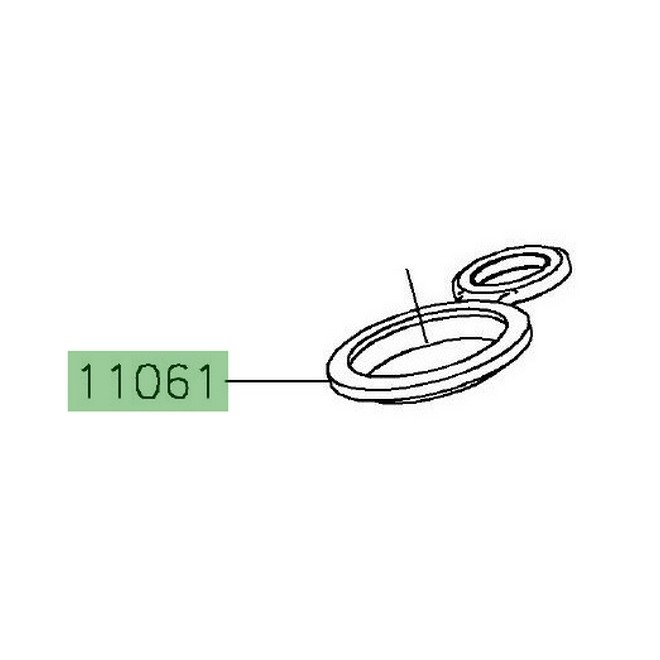 Joint de puits de bougie Kawasaki 110610105   Moto Shop 35
