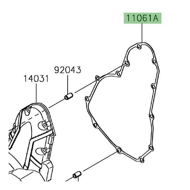 Joint carter d'alternateur d'origine Kawasaki 110610165 | Moto Shop 35