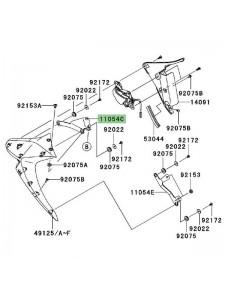 Patte supérieure gauche écope radiateur Kawasaki Z1000 (2007-2009) | Réf. 110540848