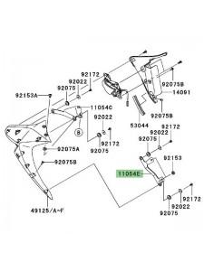 Patte inférieure gauche écope radiateur Kawasaki Z1000 (2007-2009) | Réf. 110541508