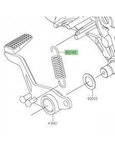 Ressort de rappel pédale de frein Kawasaki 921450893   Moto Shop 35