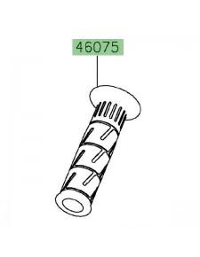 Poignée caoutchouc gauche Kawasaki 460751144 | Moto Shop 35