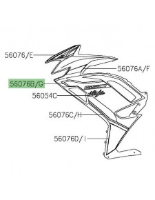 "Autocollant ""650"" flanc de carénage Kawasaki Ninja 650 KRT (2021) | Réf. 560761695 - 560761700"