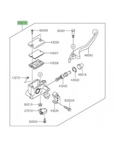 Maître cylindre de frein avant Kawasaki 430150712 | Moto Shop 35
