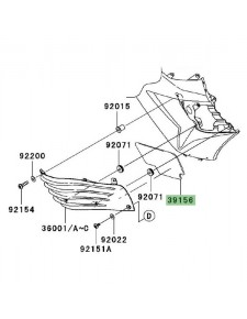 Mousse de carénage Kawasaki 391560185   Moto Shop 35