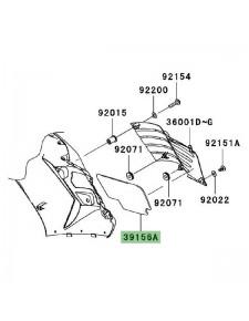 Mousse de carénage Kawasaki 391560186   Moto Shop 35