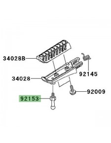 Téton de repose-pieds avant Kawasaki 921541854 | Moto Shop 35
