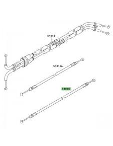 Câble de fermeture de selle passager Kawasaki ZZR 1400 (2006-2011)   Réf. 540100041