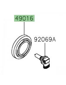 Obturateur caoutchouc optique avant Kawasaki 490160023   Moto Shop 35
