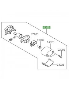 Éclairage de plaque d'origine Kawasaki 230160565 | Moto Shop 35