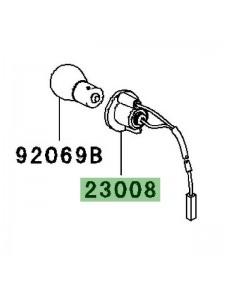 Prise ampoule clignotant avant Kawasaki 230080044 | Moto Shop 35