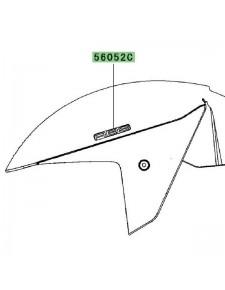 """Autocollants """"ABS"""" garde-boue avant Kawasaki ZZR 1400 (2006-2011)   Moto Shop 35"""