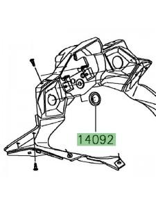 Obturateur prise accessoire Kawasaki 140920214 | Moto Shop 35