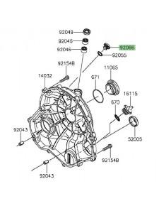Bouchon aluminium 12x9.1 carter d'embrayage Kawasaki 920660131 | Moto Shop 35
