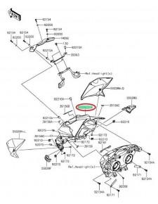 """tête de fourche """"centre"""" Z800e 55028042818T"""