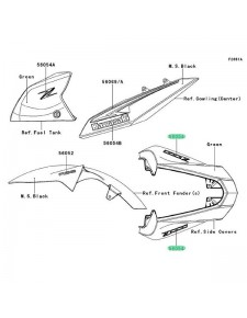 MARK TAIL COVER Z1000
