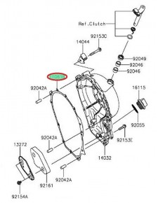 """Carter embrayage """"joint"""" ZX10R 110610735"""