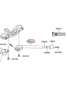 DEMI GUIDON DROIT ZX6R 460030068