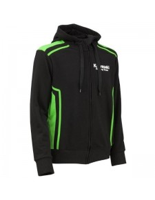 Sweat zippé à capuche homme Kawasaki Racing Team | Devant