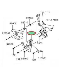 PLATINE REPOSE PIED AVANT GAUCHE VULCAN S 320540075