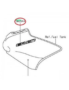 MARK TANK COVER KAWASAKI