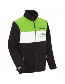 Veste polaire zippée homme Kawasaki Team Green   Devant