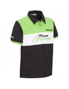 Polo manches courtes homme Kawasaki Team Green | Devant