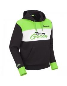 Sweat-shirt homme à capuche Kawasaki Team Green | Devant