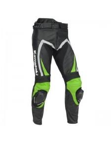 "Pantalon cuir homme Kawasaki ""Ninja"" | Devant"