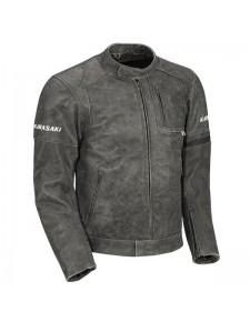 "Blouson cuir homme Kawasaki ""Asphalte"" | Devant"