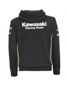 Sweat-shirt zippé homme à capuche Kawasaki Racing Team SBK REPLICA | dos