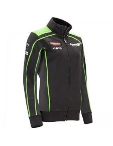Sweat zippé femme Kawasaki Racing Team SBK Replica | Devant