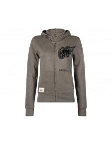 Sweat-shirt femme zippé à capuche Kawasaki JPN Speed | Devant