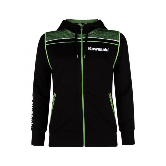 Sweat-shirt zippé femme à capuche Kawasaki Sports   Devant