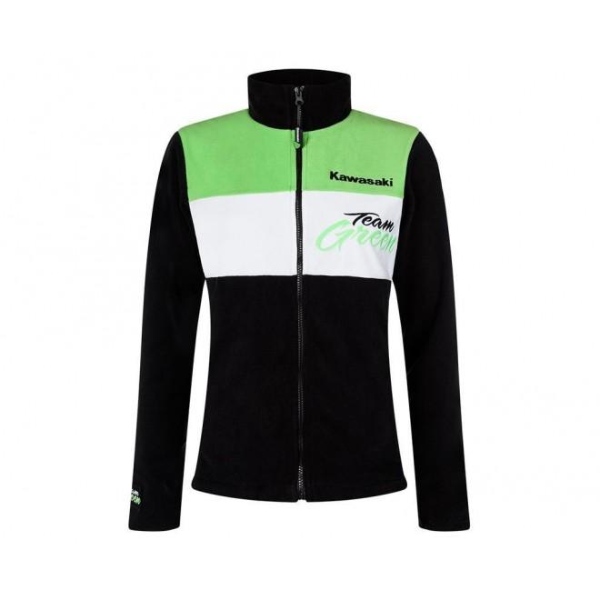 veste polaire zipp e femme kawasaki team green moto shop 35. Black Bedroom Furniture Sets. Home Design Ideas