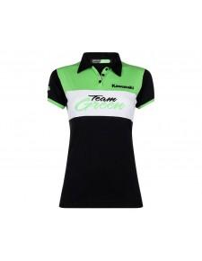 Polo femme Kawasaki Team Green | Devant