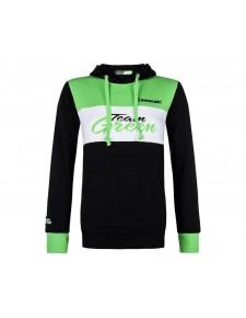Sweat-shirt femme à capuche Kawasaki Team Green | Devant