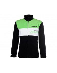 Veste polaire enfant Kawasaki Team Green | Devant