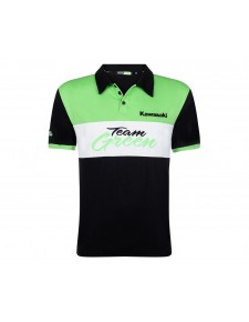 Polo enfant Kawasaki Team Green | Devant