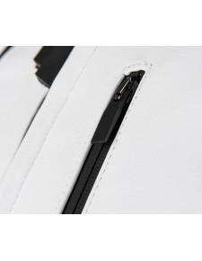 "Blouson cuir femme Kawasaki ""Z"" blanc | Détail"