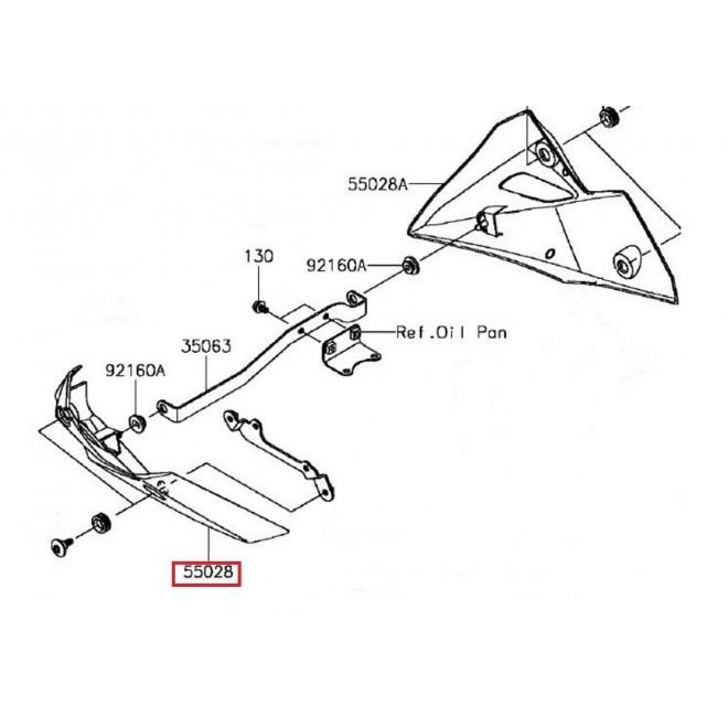 achat cowling lwr lh carbon kawasaki motoshop 35. Black Bedroom Furniture Sets. Home Design Ideas